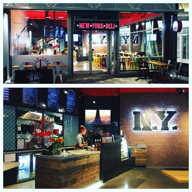 New York deli in Christchurch New Zealand. New York style sandwiches made to order. Striking interior finishing with steel, brick,mesh and concrete.