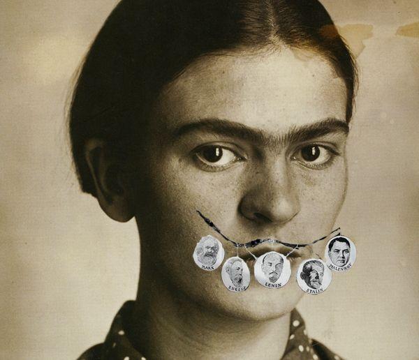 Famous Artists Try On Salvador Dalí's MustacheFridakahlo
