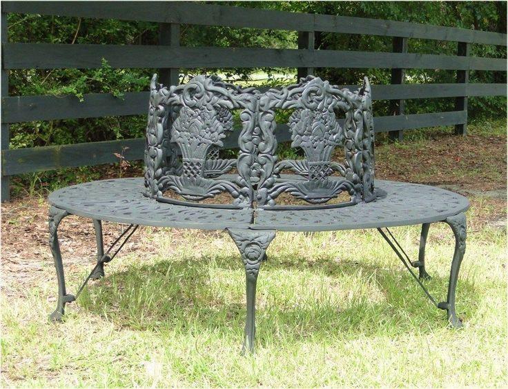 Victorian Tree Surround Vintage Replica Garden Furniture Outdoor Bench  Biggest