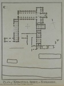Plan of Kirkstall Abbey in Yorkshire. | Sanders of Oxford