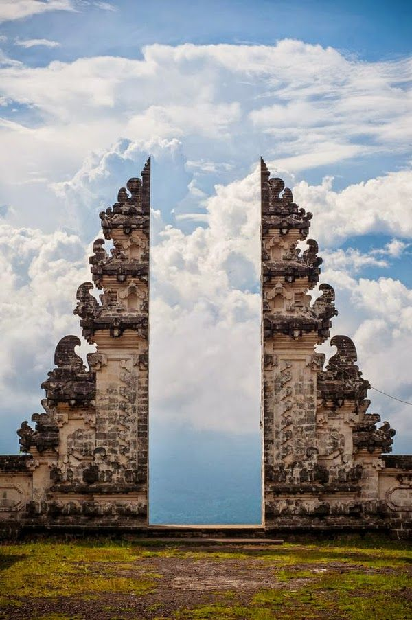 Gate to Heaven in Temple Pura Lempuyang, Bali Indonesia. I have been many times to Bali but haven't seen this.