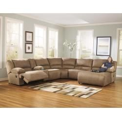 57802S2 in by Ashley Furniture in Houston, TX - Hogan - Mocha 5 Piece Sectional