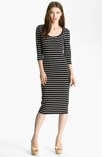 French Connection Stripe Midi Cotton Dress available at # ...