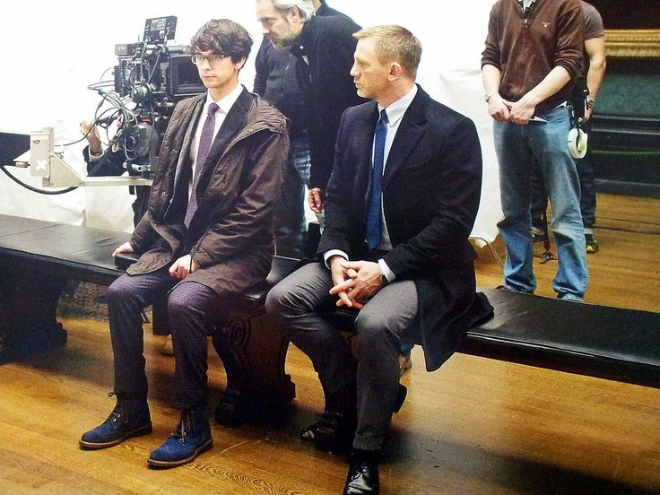 """Ben looks so surprised like hes thinking """"Oh, s**t, I'm sitting next to James Bond."""""""