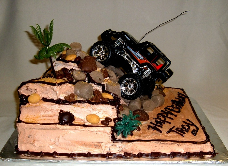 Custom Extreme Sports Rc 4 Wheel Drive Rock Climbing Cake
