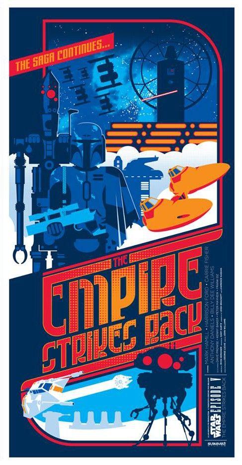Star Wars Episode V: The Empire Strikes Back (Fan Poster)   By: Mark Daniels, via Numerik