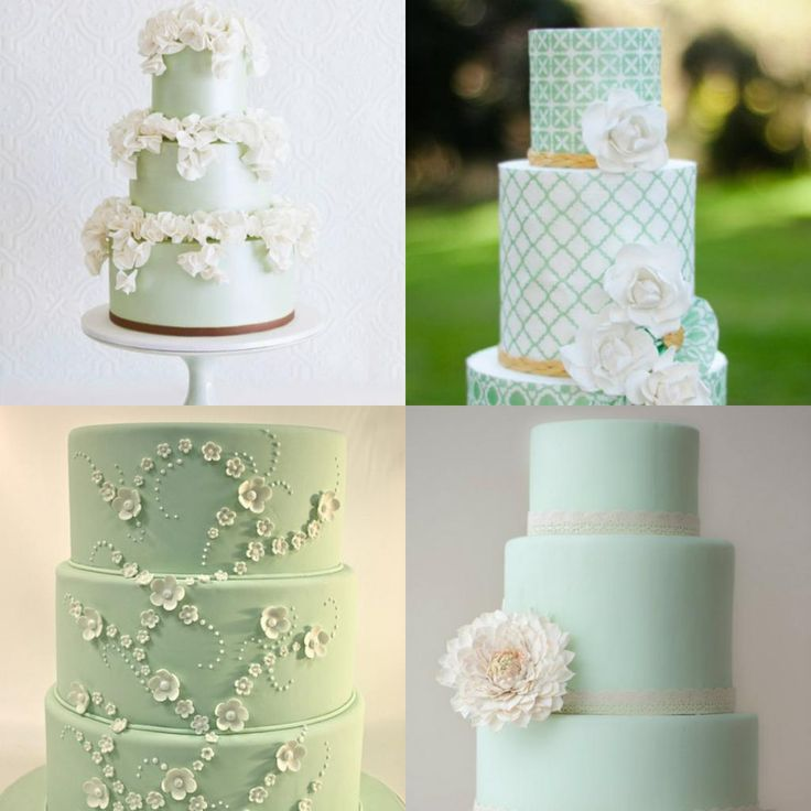 Green And Gold Wedding Decorations: Best 25+ Mint Green Cakes Ideas On Pinterest