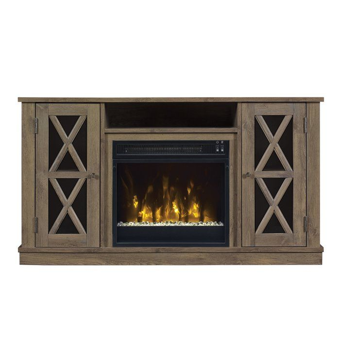 Loon Peak Fritz TV Stand with Electric Fireplace & Reviews | Wayfair