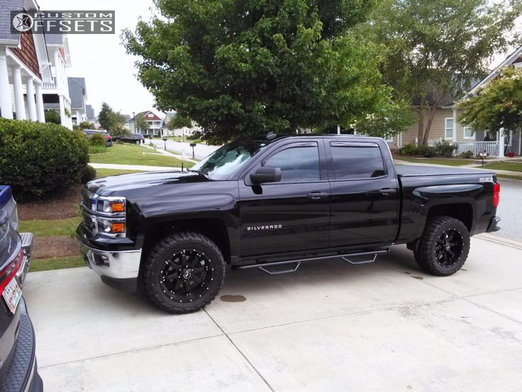 57856 11 2014 silverado 1500 chevrolet leveling kit raceline assault black aggressive 1 outside fender.jpg