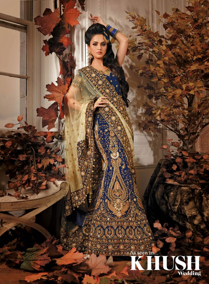 This beautiful combination of blue & gold is nothing less than royalty! Find more at maysa boutique 485 - 487 Leeds Road, Bradford, BD3 9ND +44(0)7902 708 755 mymaysaonline@gmail.com www.mymaysa.co.uk Hair & Makeup: Julie Ali Mua Jhumer/Earrings: NK Collection Bangles: The Lotus London Fur: The Throw Company