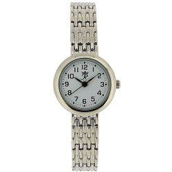 Realm Ladies Round Quartz Analogue Silver Tone Bracelet Strap Watch RB-24L
