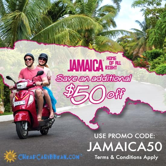 Ends 1/31/15: Save an additional $50 off your 5 night Jamaica vacation package with promo code: JAMAICA50 #CheapCaribbean #Beach #Vacation