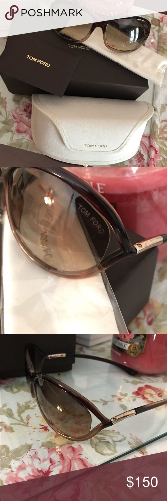 Tom Ford Jennifer Sunglasses Authentic Tom Ford sunglasses. Comes with glasses, glasses case, cleaning cloth, and original box. Tom Ford Accessories Glasses