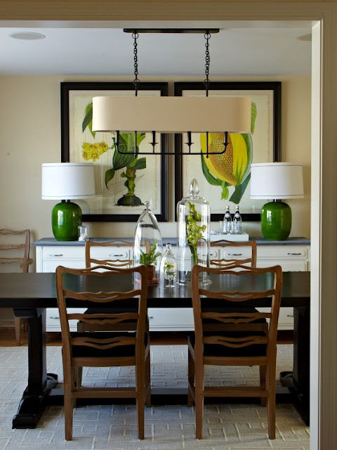 love the light fixture above the dining table