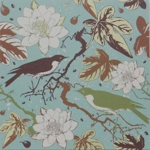 Modern Aqua Garden Birds Canvas Picture - $8.00. Available from http://www.wallartroad.com/small-art-pieces-under-15-00/ #wall #art #road #canvas