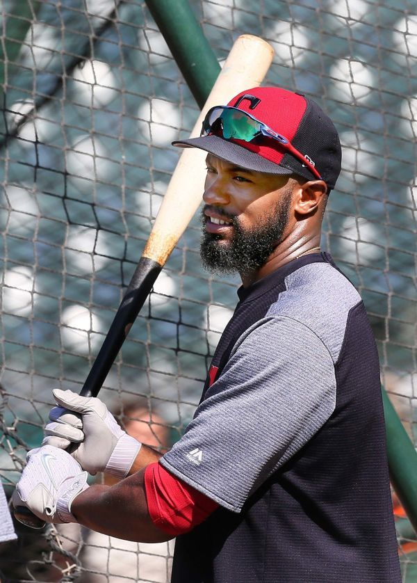 Cleveland Indians outfielder Austin Jackson during batting practice before the game against the Los Angeles Angels at Progressive Field, Cleveland, Ohio, on July 25. 2017. Jackson was taken off the disabled list today and will be starting in right field. (Chuck Crow/The Plain Dealer).