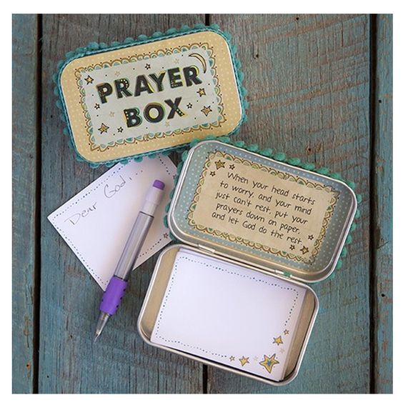 Prayer Box | Inspirational Gift, Stocking Stuffer, Gift for Teen, Confirmation Gift, First Communion Gift| Catching Fireflies