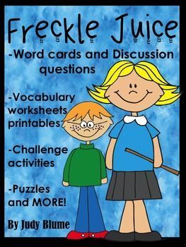 Elementary teachers, this is for you! No prep needed, just print and go! Here is a complete guided reading lesson plan for your students for the book Freckle Juice by Judy Blume. From Pre-reading to after reading there are lots of activities for you to choose from for your class.