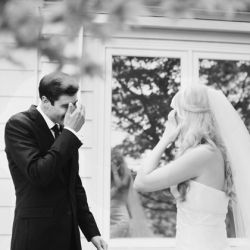 One of our favourite moments to shoot during weddings is the grooms reaction - it's always a look of pure love and joy! Take a look!
