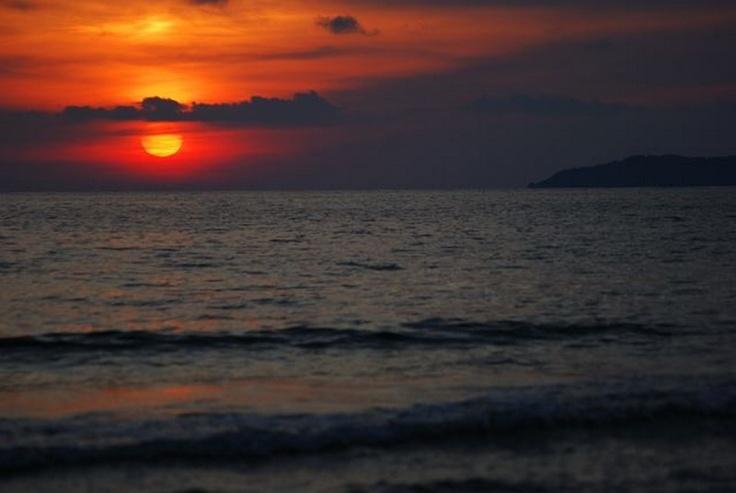 Sunset Over the North West coast of Agios Stefanos Corfu