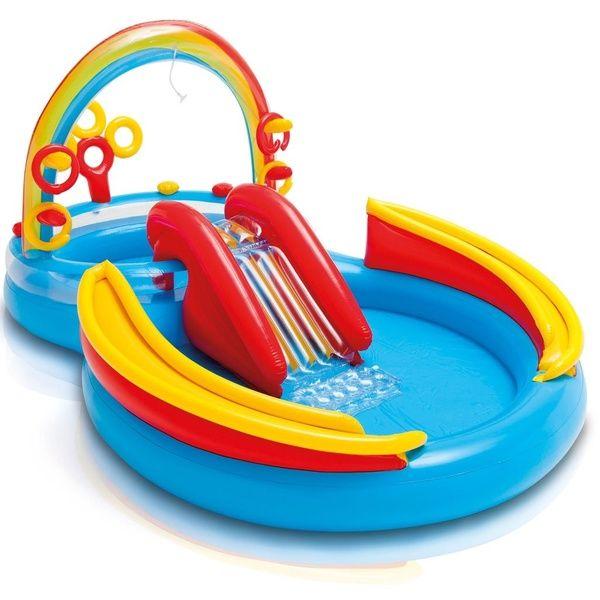 53in Rainbow Ring Center Slide Kids