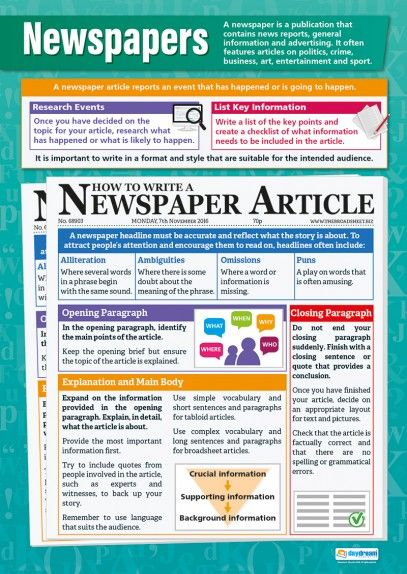 Essay newspaper page