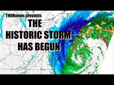 The Historic East Coast storm has Begun & will be VERY NASTY. - YouTube