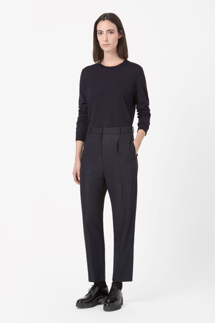 COS   Loose textured trousers