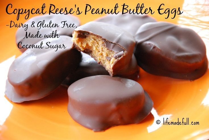 Copycat Reese's Peanut Butter Eggs (Dairy/Gluten-Free) - Life Made Full