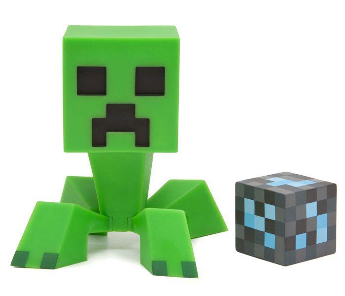 Figurine Minecraft Vinyle Creeper Vert avec Bloc de Diamant - 24.99€ - #Logostore