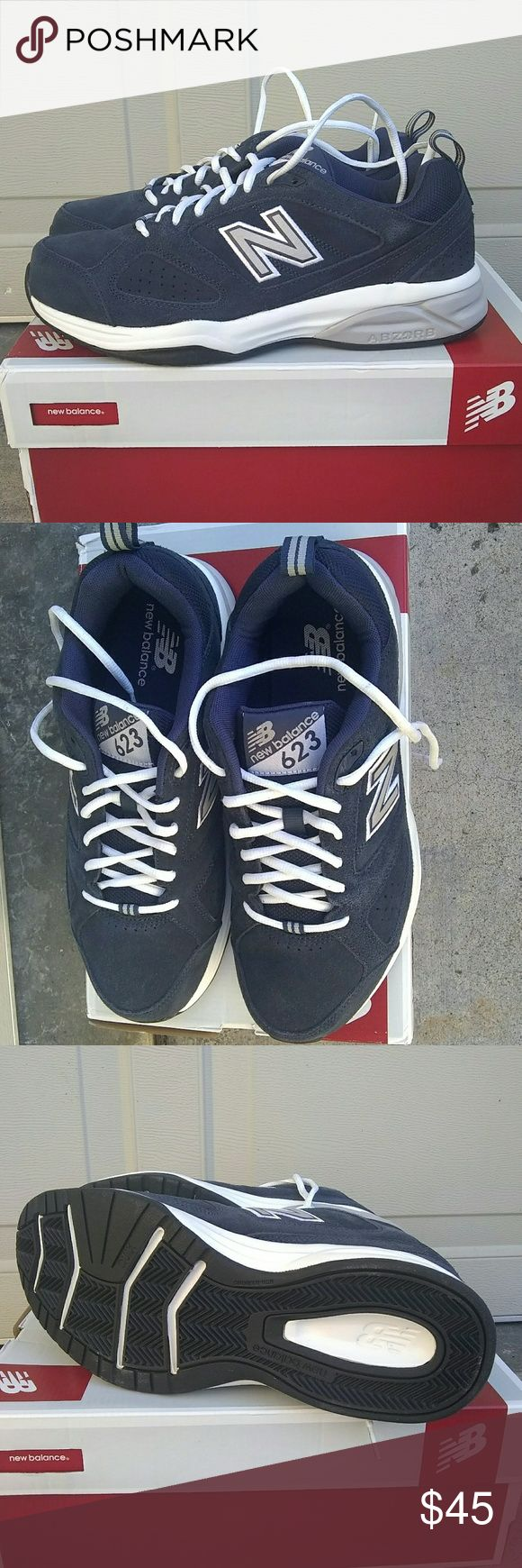 NWB Men's New Balance Wide Athletic Shoes 9.5 2E Navy blue suede, Abzorb style, wide 2E, new with box, size 9.5 New Balance Shoes Athletic Shoes
