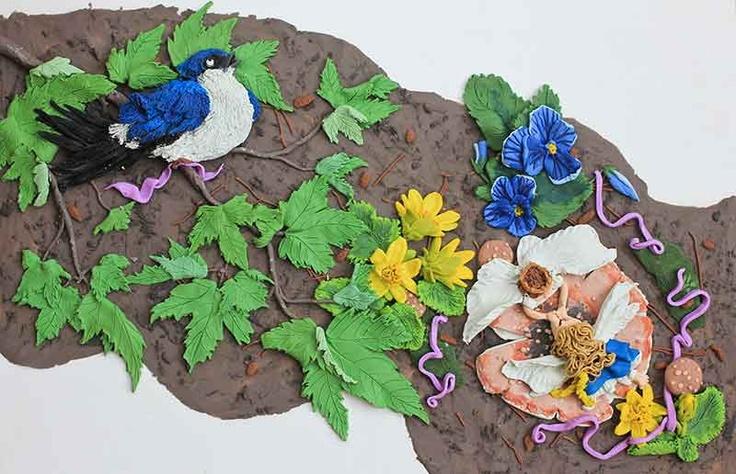 Thumbelina illustration #2. Plasticine illustration