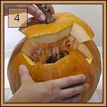 Stap voor stap zelf pompoenen uitsnijden - www.halloweenpompoenen.be