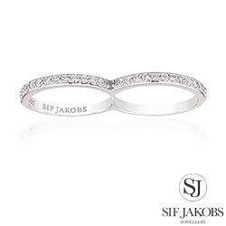 Sif Jakobs ring i sølv - hvide zirkoner