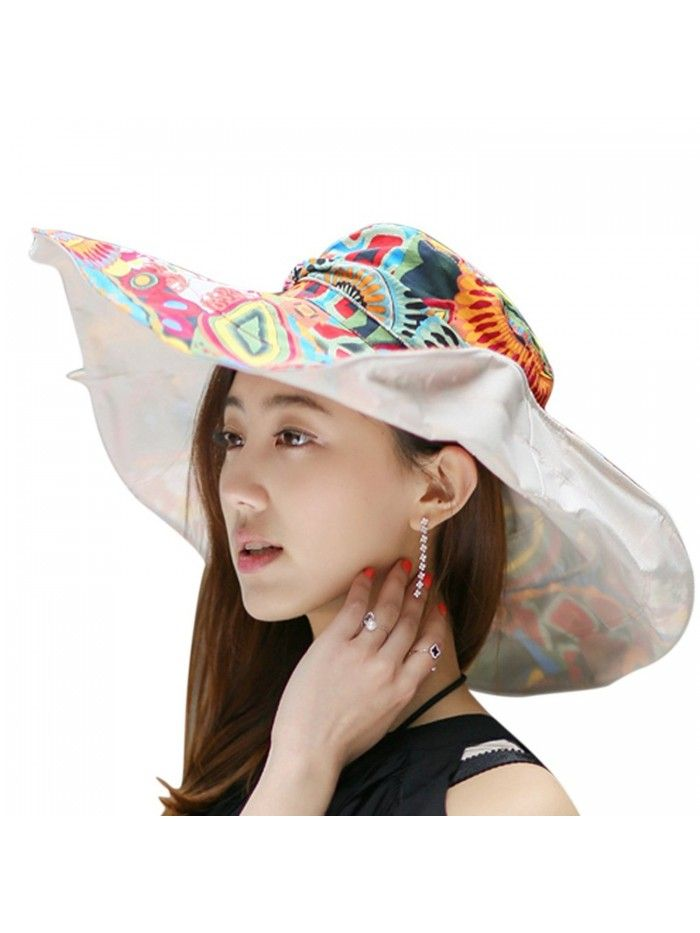 89941add Women's Anti-UV Sun Protective Wide Brim Reversible Floppy Sun Hat Beach  UPF 50+ - Off-white - C112DOPKR2F - Hats & Caps, Women's Hats & Caps, Sun  Hats ...