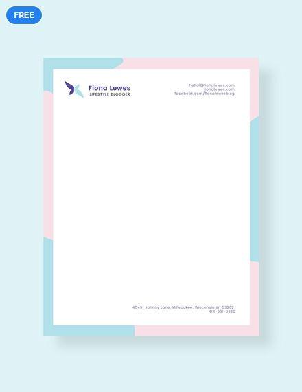 Free Personal Letterhead Letterhead Templates Designs 2019