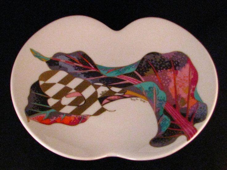 Rosenthal Porcelain Jan Van der Vaart Brigitte Doege Modernist Leaf Bowl #Rosenthal