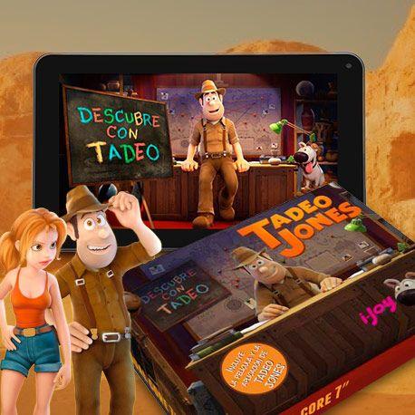 ¡Tablet Descubre con Tadeo! La mejor herramienta para vivir mil aventuras en el mundo de las apps. Aprende de la mano de Tadeo Jones.