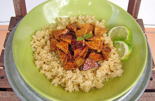 Výborný, lehce exotický oběd či večeře. | Veganotic