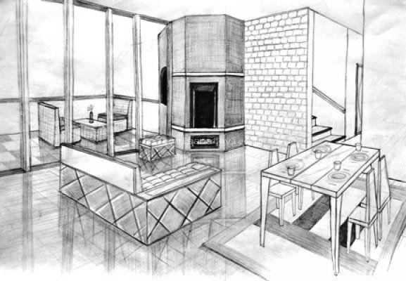 1000 images about drawing interior on pinterest sketching perspective and sketchbooks. Black Bedroom Furniture Sets. Home Design Ideas