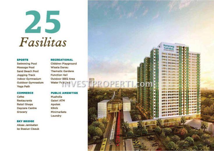 25 fasilitas apartemen Serpong Garden.