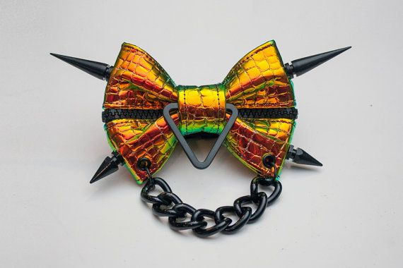 Hey, I found this really awesome Etsy listing at https://www.etsy.com/listing/214709588/holographic-leather-bow-tie