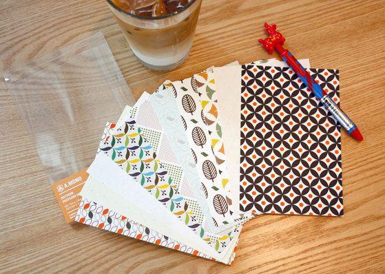 Scandinavian pattern postcard set