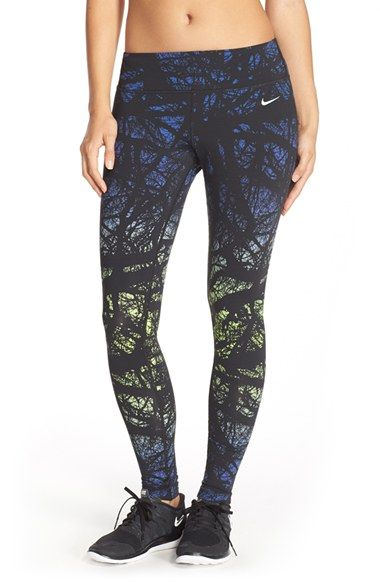 Nike+Dri-FIT+Print+Running+Tights+available+at+#Nordstrom