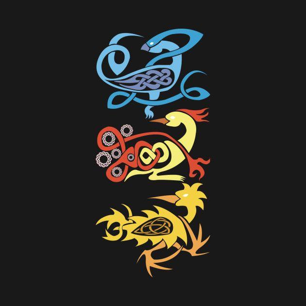 Celtic Legendary Pokemon Birds design on TeePublic by WildHusky