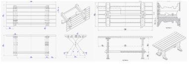 Voorbeelden hoe je zelf een houten tafel voor in de tuin kunt maken.