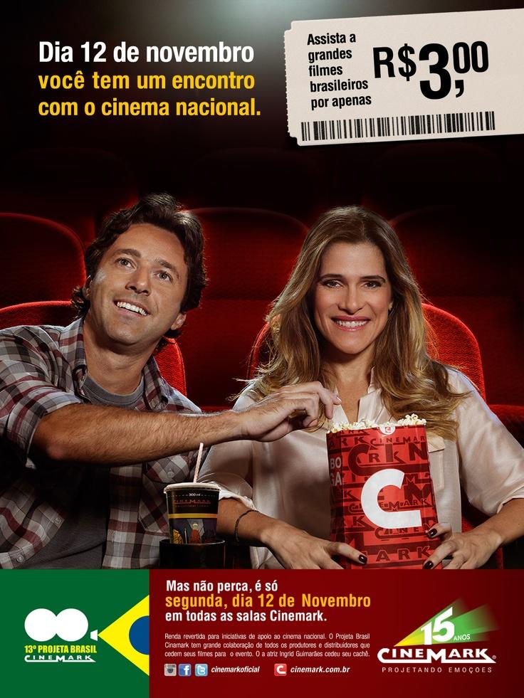 O 13º Projeta Brasil Cinemark acontecerá dia 12 de novembro, no @Cinemark Theatres aqui do Taguatinga Shopping! Estão todos convidados!