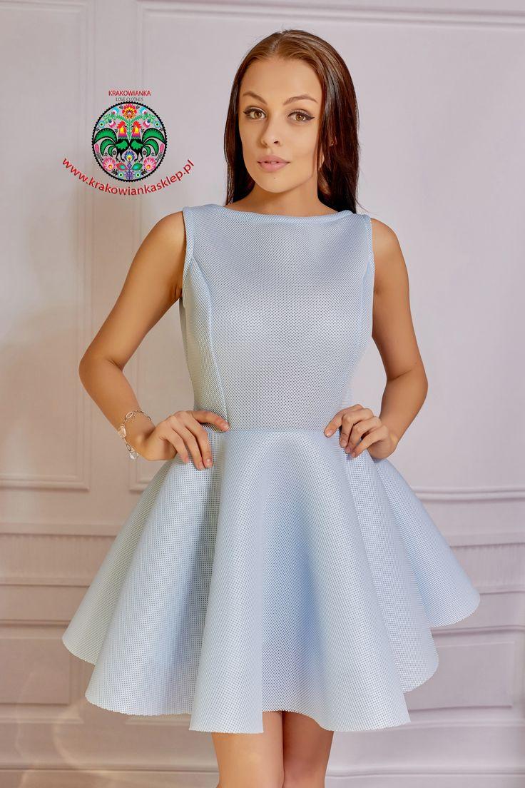 wiosenna pastelowa sukienka www.krakowiankasklep.pl