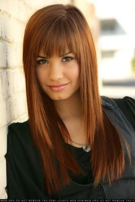 not so much the bangs for me....but love the color and cut is nice too