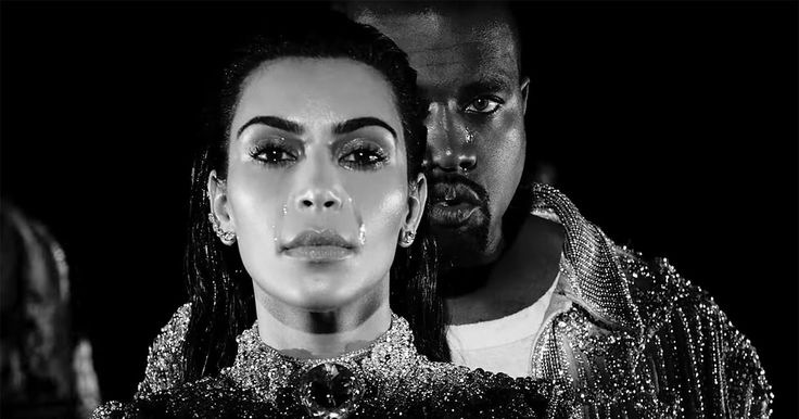 Kim Kardashian and Kanye West cry together in his new music video for 'Wolves' — watch